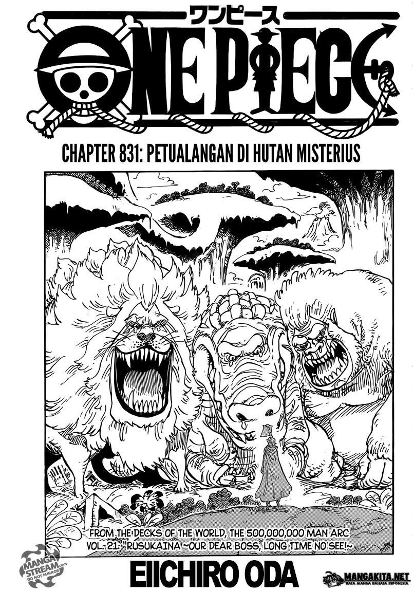 One Piece: Hutan Rayuan   Review Chapter 831