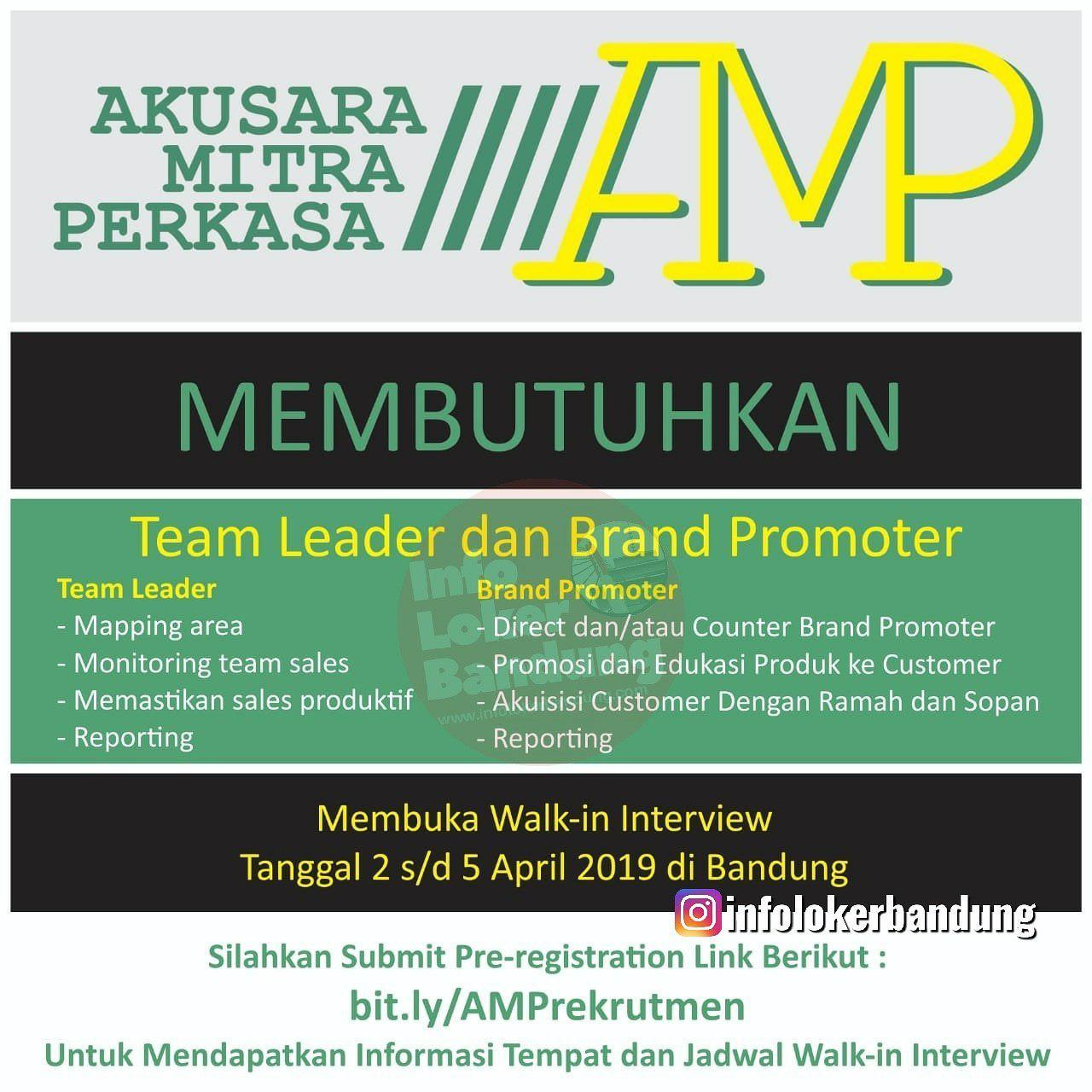 Lowongan Kerja PT. Akusara Mitra Perkasa Bandung Walk In Interview 2 - 5 April 2019