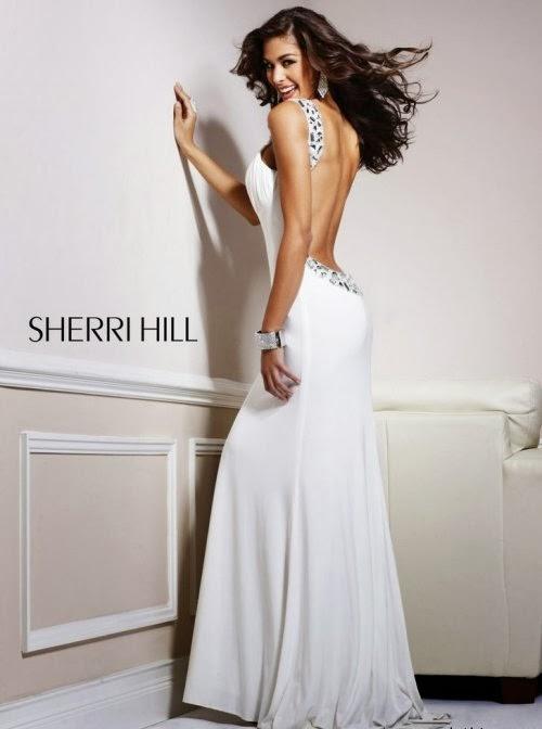 Cocktail Dresses 2014: Long White Open Back Cocktail Dress