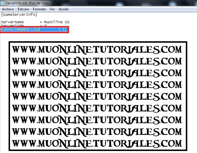 Server info de una version 097x