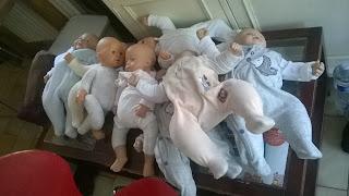 portage bébés poupons lestés babywearing