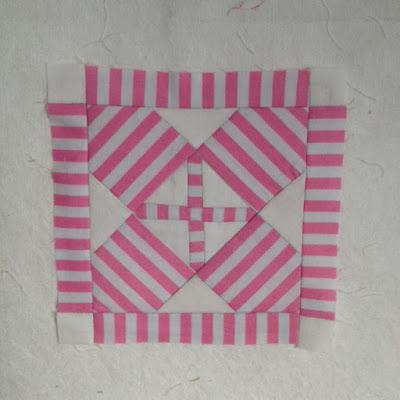 Dear Jane quilt blok A4