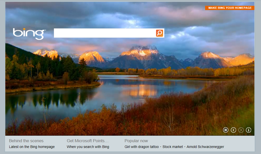 More Bling To Microsoft Bing With Video Homepage