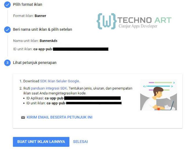 WildanTechnoArt-Petunjuk Penerapan Untuk Unit Iklan Banner Ads