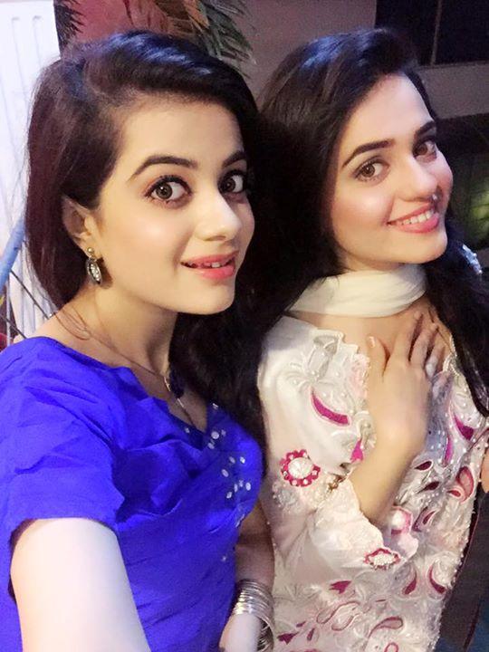 Kompal Iqbal with her sister