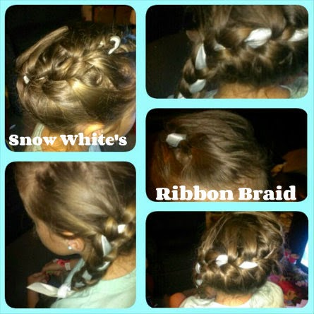 Disney Princess Hairstyles  snow white ribbon braid