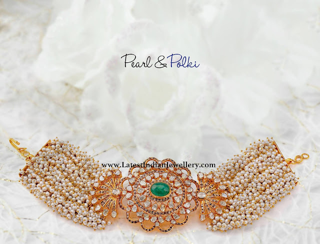 Pretty Pearl and Polki Bracelet