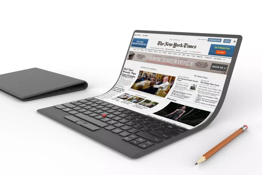 Lenovo shows off laptop concept with a flexible screen