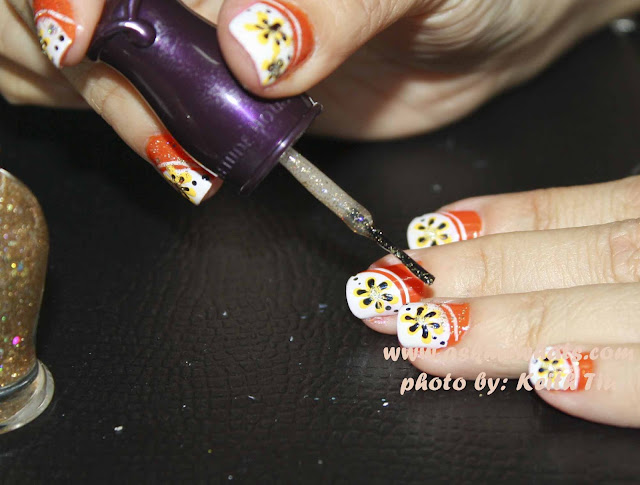 a photo of Sunkist Nail Art Tutorial