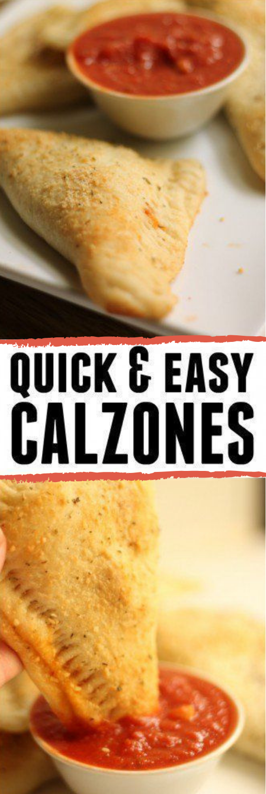 QUICK AND EASY CALZONES #dinner #calzones