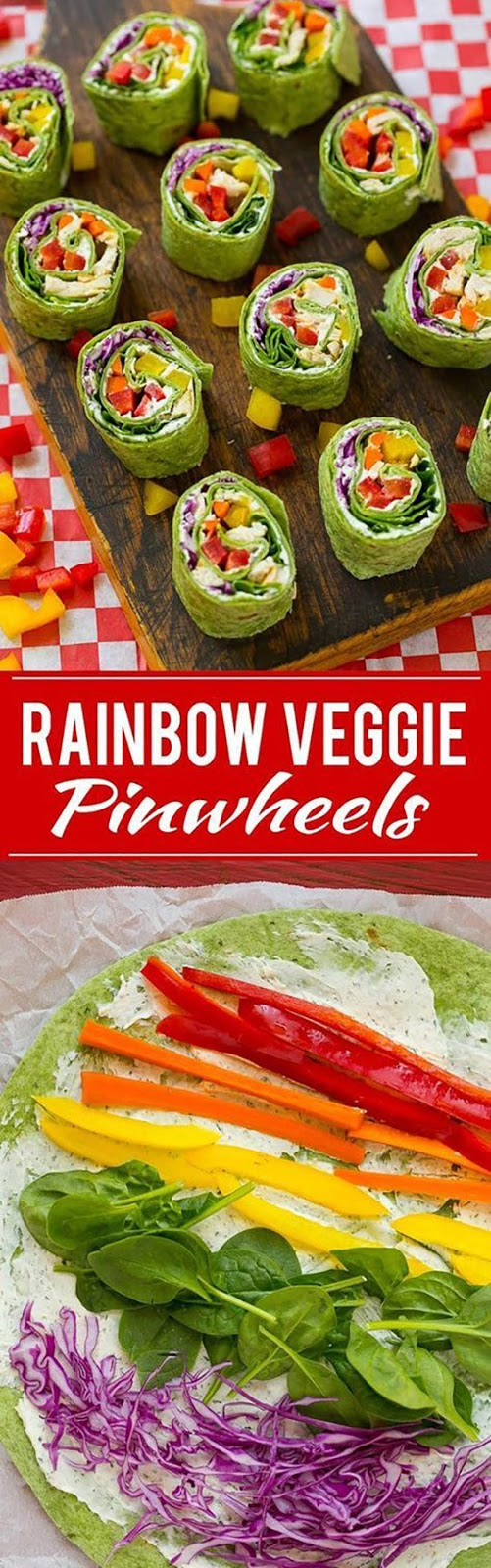 Rainbow Veggie Pinwheels