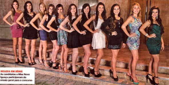 88f272646 Treze candidatas a miss Nova Iguaçu estão prontas para a decisão do ...
