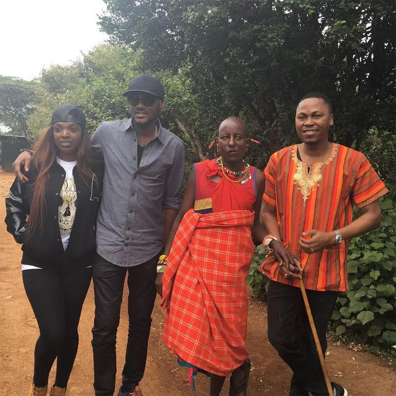 Photos: 2face and Annie Idibia visit Kenyan zoo