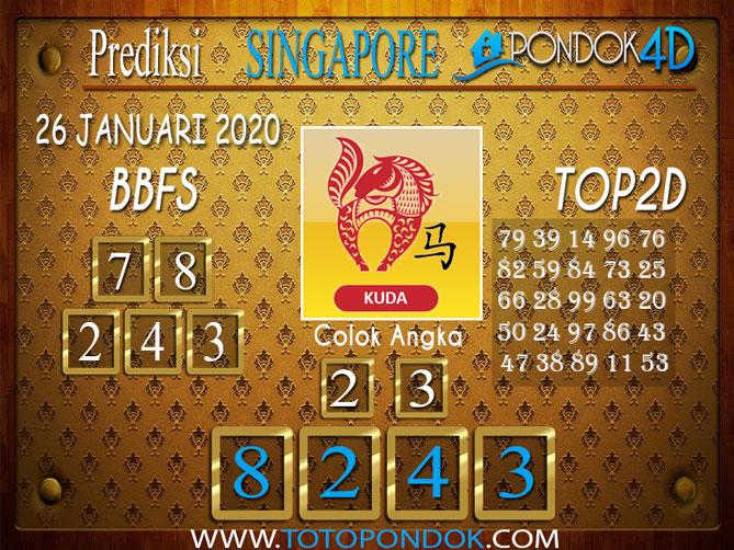 Prediksi Togel SINGAPORE PONDOK4D 26 JANUARI 2020