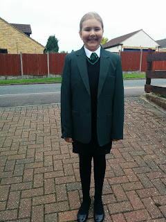 Top Ender on her First Day at Senior School