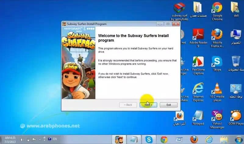 تحميل لعبة subway surf للكمبيوتر
