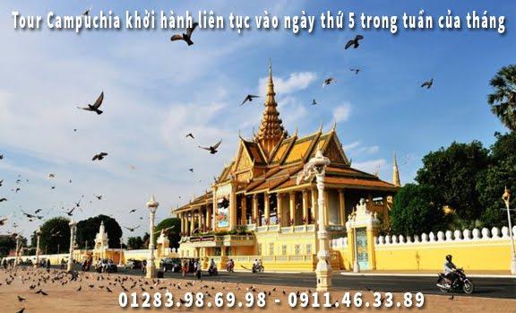 Tour Campuchia khởi hành liên tục vào ngày thứ 5 trong tuần của tháng 7
