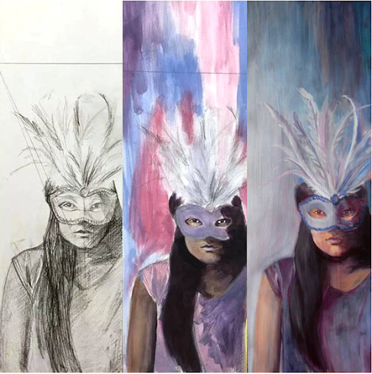 Evolution of a Coloured Painting