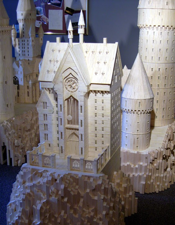 05-Hogwarts-Patrick-Acton-The-Matchmaker-Matchsticks Sculptures-www-designstack-co