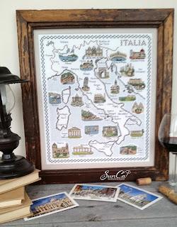 Вышитая карта Италии