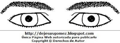 Dibujos de ojos de un hombre para colorear o pintar. Dibujo de ojos hecho por Jesus Gómez