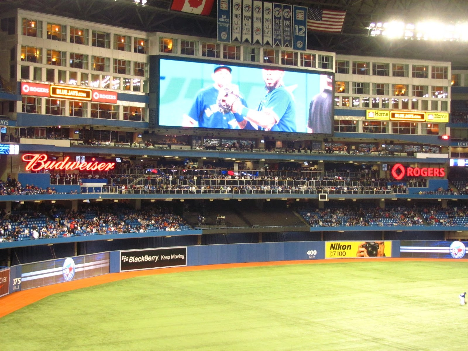 The World of Gord: Our First Blue Jays Game of the Year!