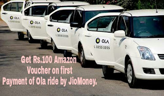 How to Get Rs.100 Amazon Voucher on first Payment of Ola ride.