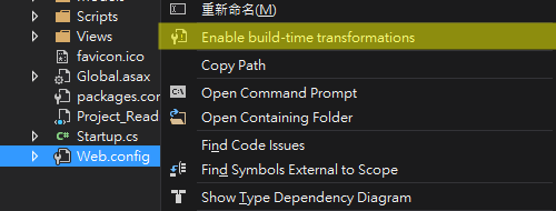 Enable Build-Time Transformations