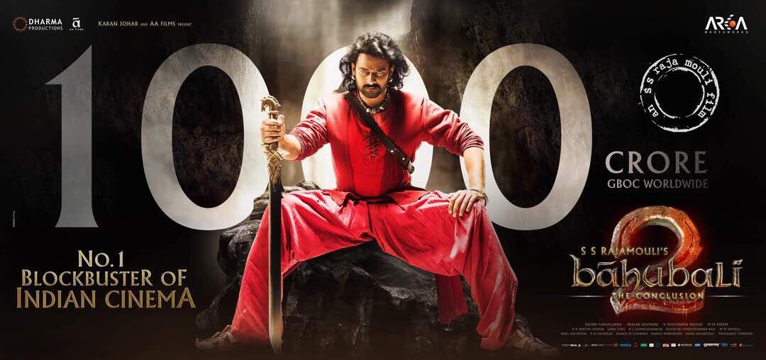 Baahubali 2 1000 Crore Poster