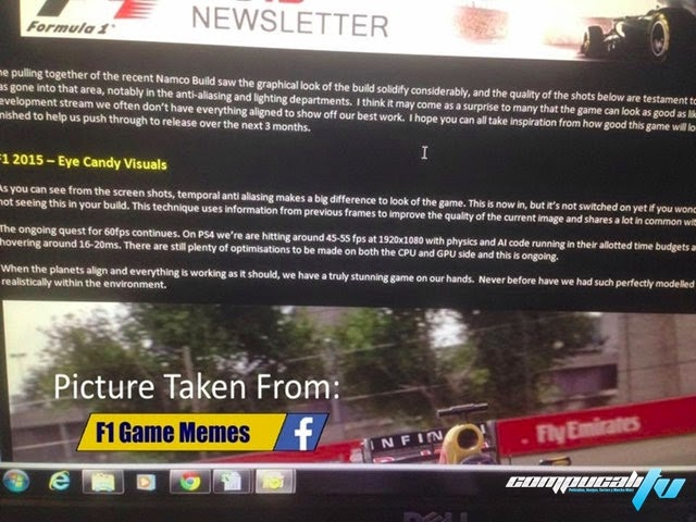 F1 2015 Primeros detalles filtrados