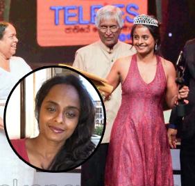 Nadee Kammellaweera, wife of Kasun Kalhara who became Raigam Tele's Best Actress
