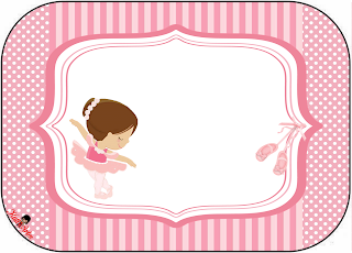 Pretty Ballerina Free Printables Labels.