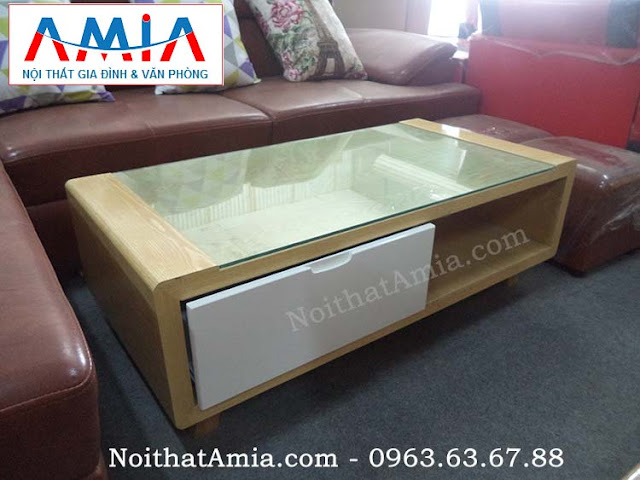 Hình ảnh cho mẫu bàn trà gỗ công nghiệp đẹp hiện đại được phân phối và cung cấp bởi Nội thất AmiA