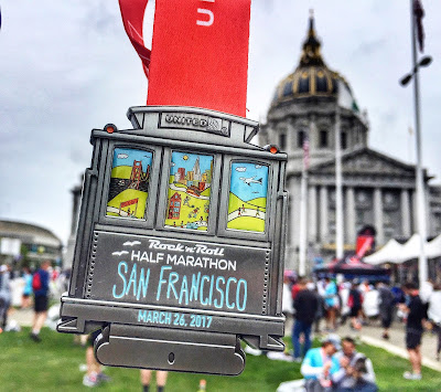Rock'n'Roll San Francisco Half Marathon medal 2017