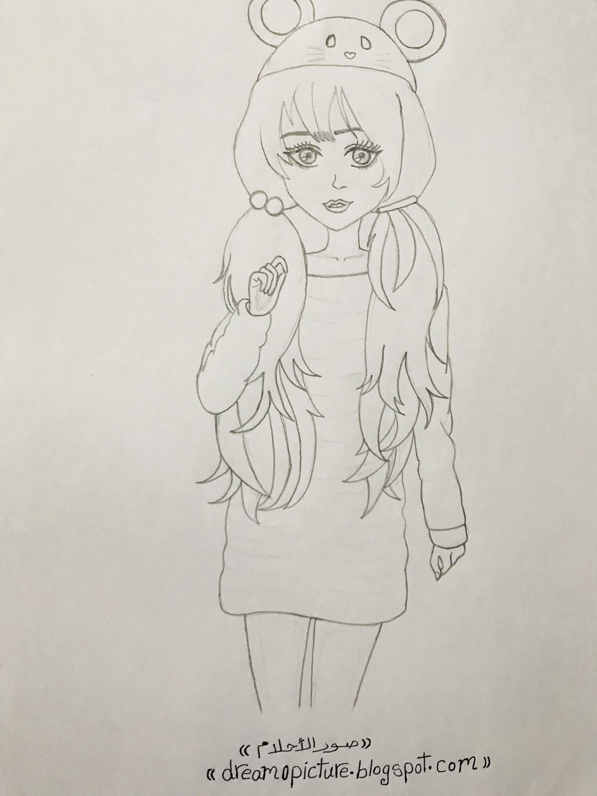 رسم بنات كيوت بالالوان الخشب عالم الكتب