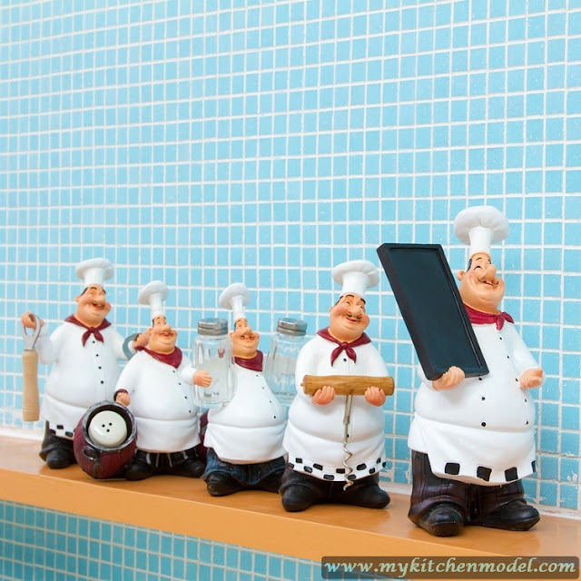 Chef Figurines Kitchen Decor