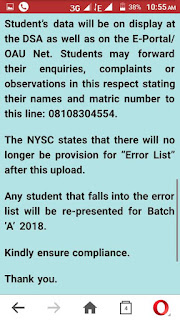 NYSC 2017/2018