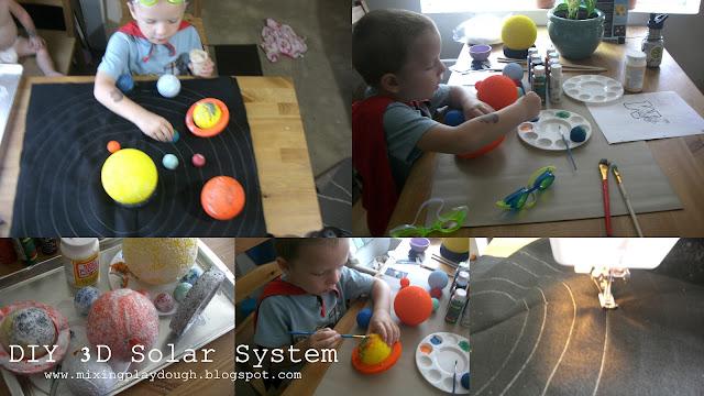 Mixing Playdough: DIY 3-D Solar System