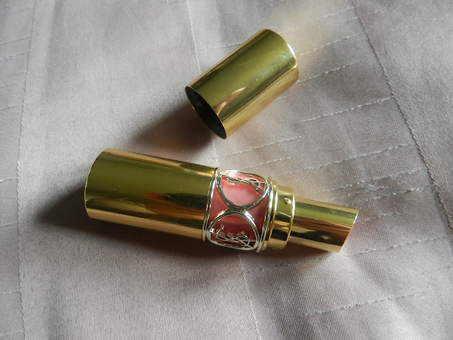Yves Saint Laurent Rouge Volupté Shine in 13 Pink in Paris