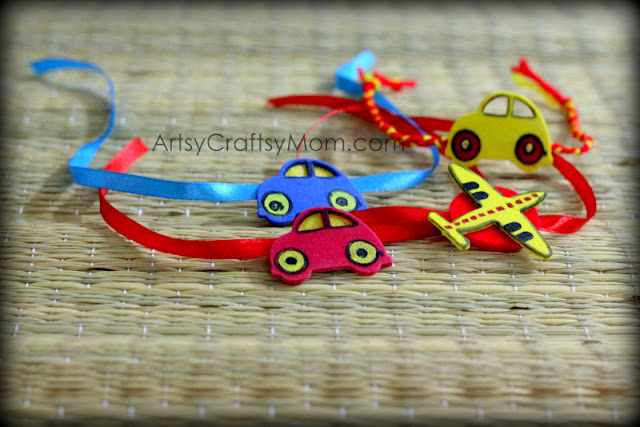 15 best ideas to make rakhi at home for rakshabandhan for Simple art from waste