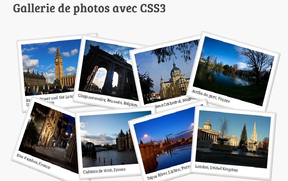 gallerie de photos avec css3