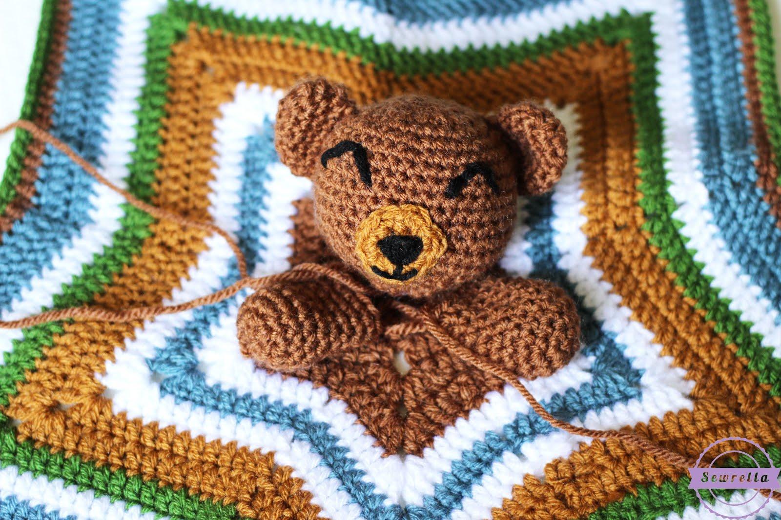 The Cuddliest Crochet Bear Lovey Sewrella