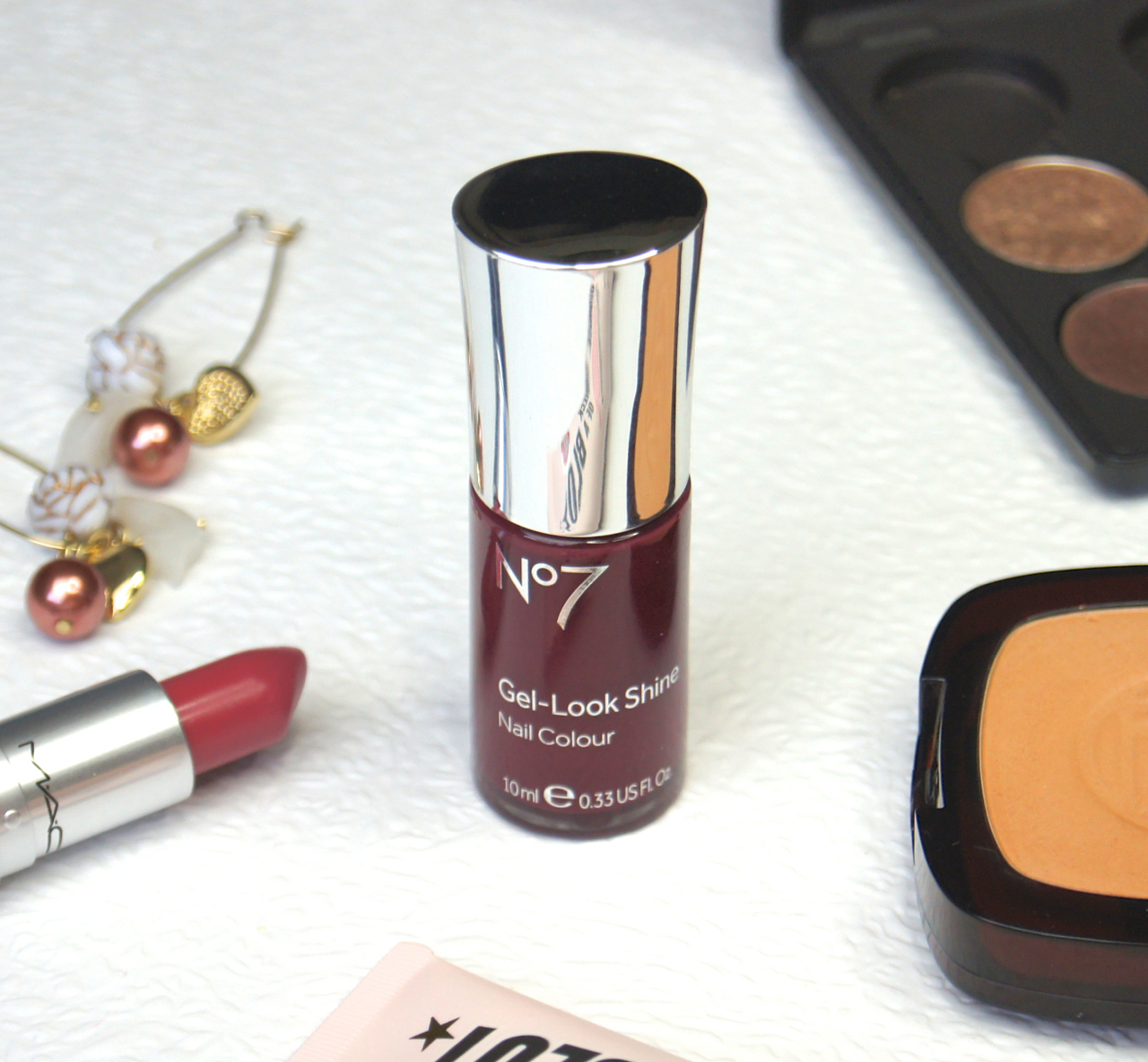 no7 gel look high shine nail colour deep wine review swatch