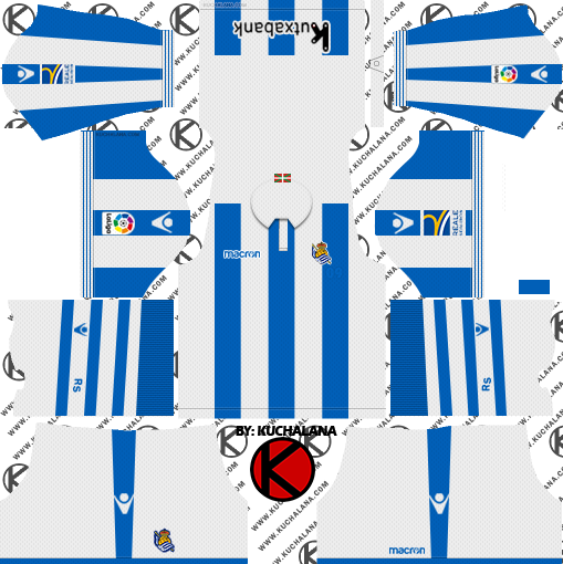 f7309f783 Real Sociedad 2018 19 Kit - Dream League Soccer Kits - Kuchalana
