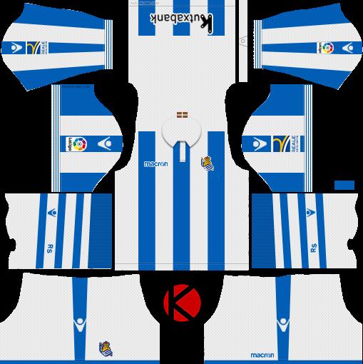 Real Sociedad 2018/19 Kit - Dream League Soccer Kits
