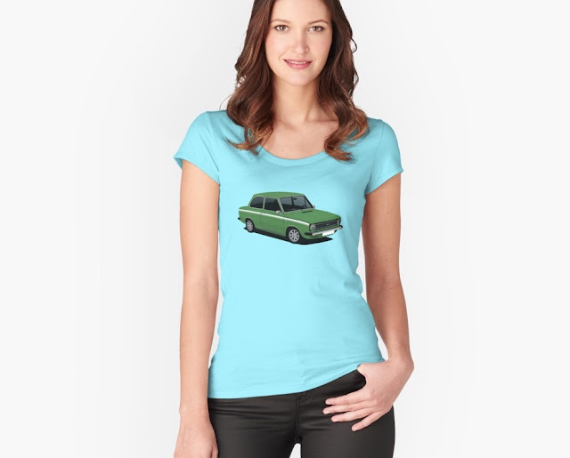 Green DAF 66 Super Luxe saloon, T-shirt
