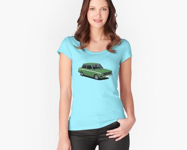 Green DAF 66 Super Luxe saloon, T-shirt