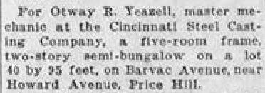 otway yeazell 1930 newspaper