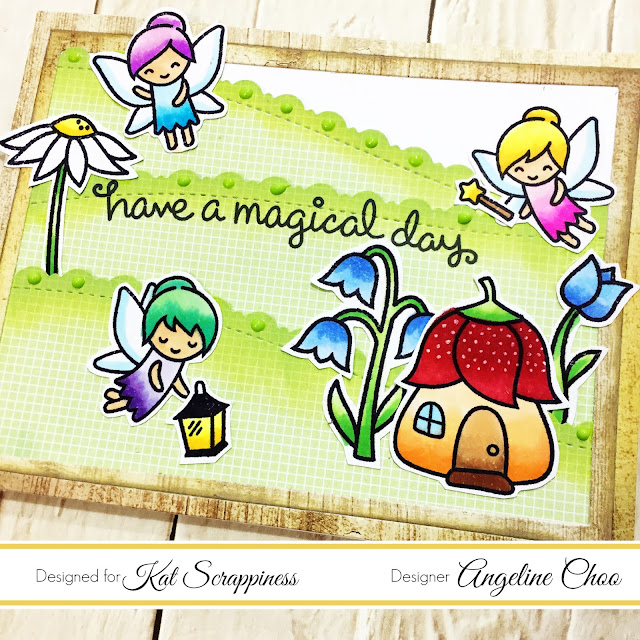 ScrappyScrappy: Fairy Friends card with Kat Scrappiness #scrappyscrappy #katscrappiness #lawnfawn #timholtz #tonicstudios #neverendingdie #diecut #borderdie #distressoxide #card #cardmaking #craft #crafting #scrapbook #scrapbooking #papercraft #copicmarkers #nuvodrops #fairyfriends
