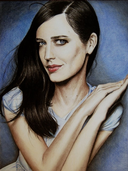 06-Eva-Green-Valentina-Zou-Pencils-and-Charcoal-Hyper-Realistic-Drawings-www-designstack-co